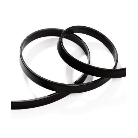 Ruban cuir10x2mm noir SB80cm
