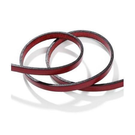 Ruban cuir10x2mm rougeSB80cm