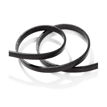 Ruban cuir5x2mm noir SB80cm
