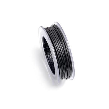 Lacets de cuir 1mm 5m noir