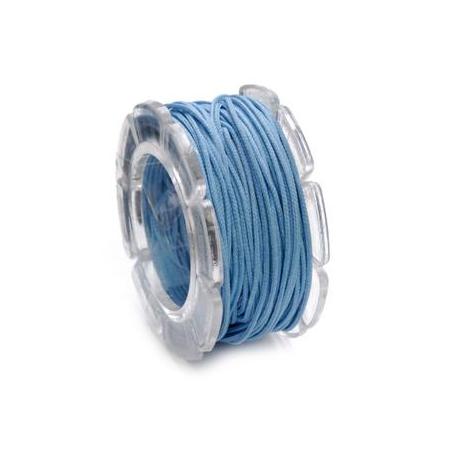 Cordon ciré 0,6mm,10m bleu SB1