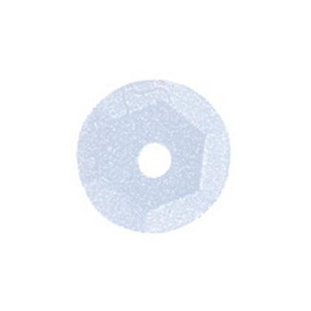 Paill.cuvettes, 6mm blanc