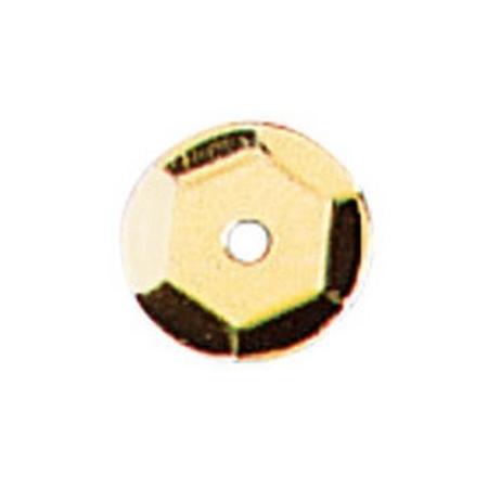 Paill.cuvettes, 6mm jaune