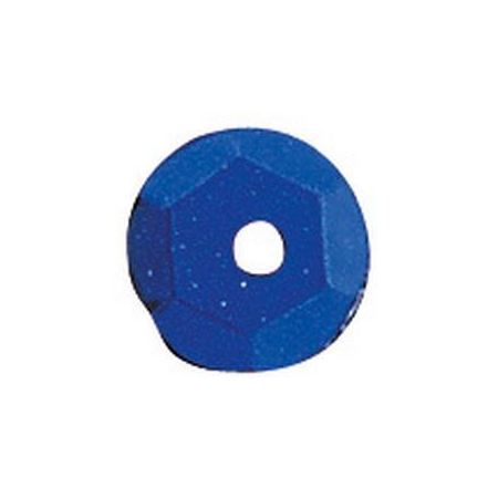 Paill.cuvettes, 6mm bleu