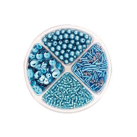 Assorties de perles/paillettes turquoise