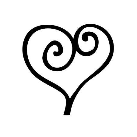 Cachet 'Coeur romantique'