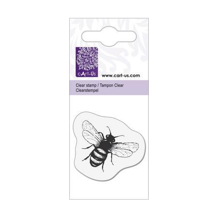 Clear tampon petit abeille