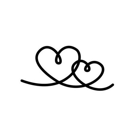 Cachet 'Double coeur'