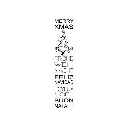 Cachet 'Merry X-mas'