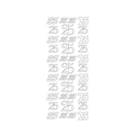 Sticker chiffre 50 argent