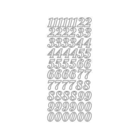 Sticker chiffres 2 cm gold