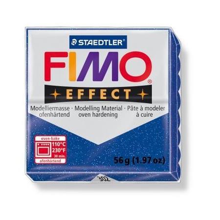 Fimo Effect bleu paillettes