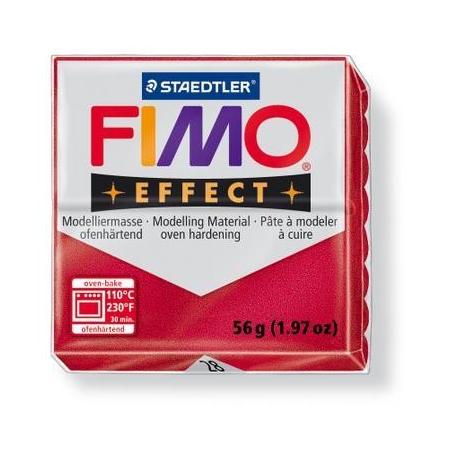 Fimo Effect rouge rubis métallisé