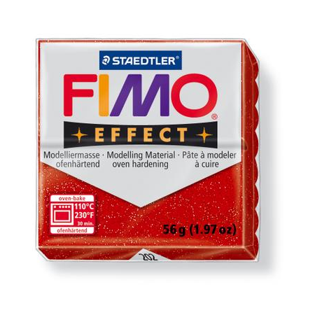 Fimo Effect rouge paillettes