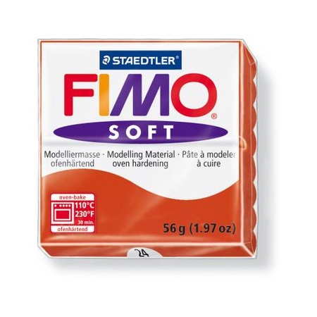 Fimo Soft rouge indien