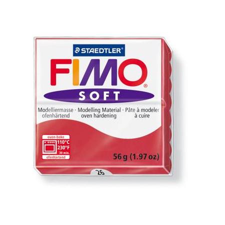 Fimo Soft rouge cerise
