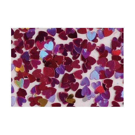 Coeur glitter holo-fuschia7g
