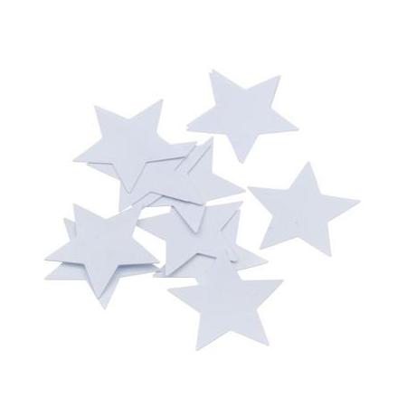 Paillettes étoile30mm blanc20g