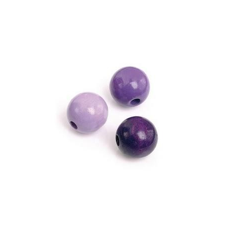 Mix de perles en bois 6mm lilasSB118