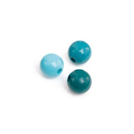 Mix de perles en bois 6mm turquSB118