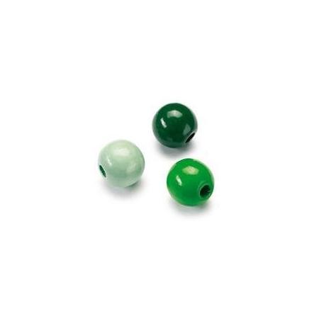 Mix de perles en bois 6mm vert SB118