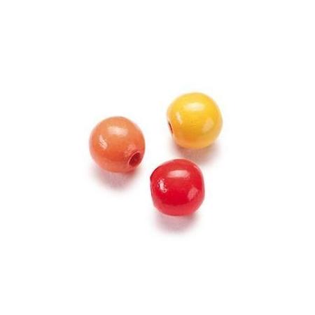 Mix de perles en bois 10mm ja/roSB47