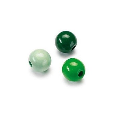 Mix de perles en bois 10mm vert SB47