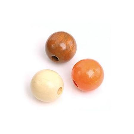 Mix de perles en bois 10mm na/orSB47