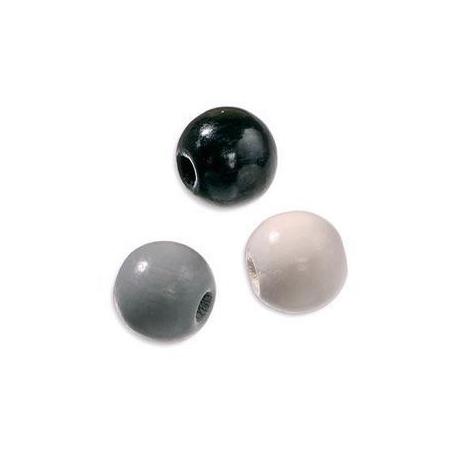 Mix de perles en bois 10mm no/blSB47
