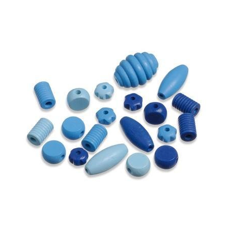 Perles en bois assortiment 1 bleu SB20