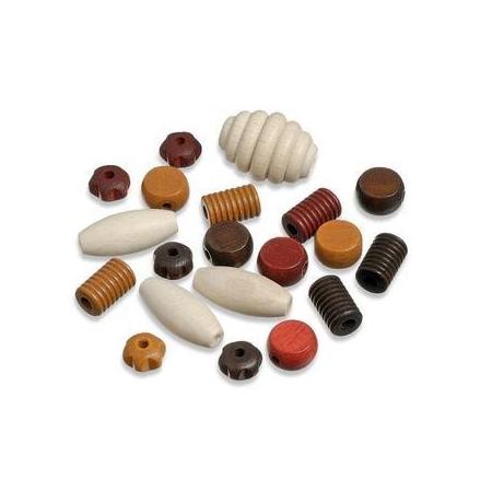 Perles en bois assortiment 1 noir-bl SB20