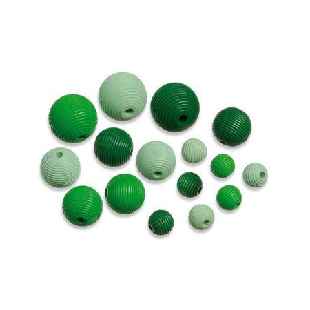 Perles en bois assortiment 4 vert SB20