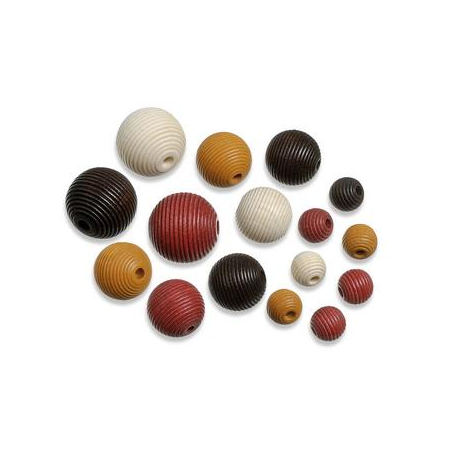 Perles en bois assortiment 4 brun-nature SB20