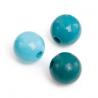 Mix de perles en bois 12mm turquSB28
