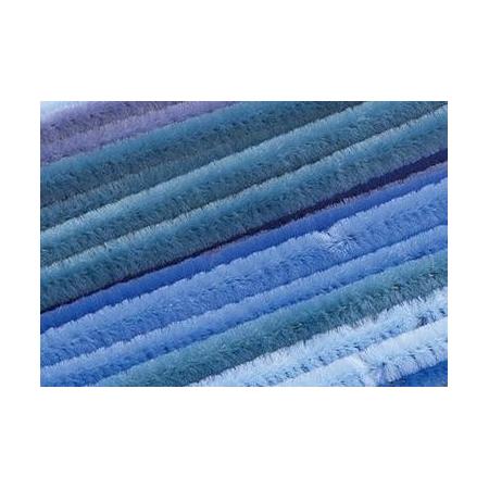Chenilles, assortiment bleu 30cm x 6mm 25 pces