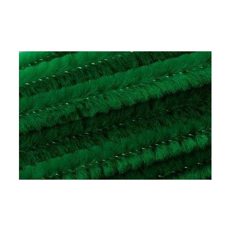 Chenille 50cm, vert 8mm 10 pces