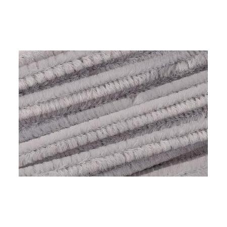 Chenille 50cm, gris 8mm 10 pces