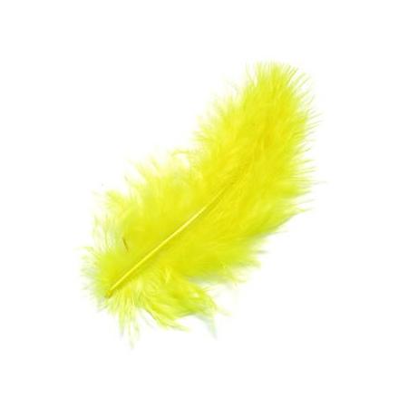 Plumes de marabout jaune 9cm 15 pces