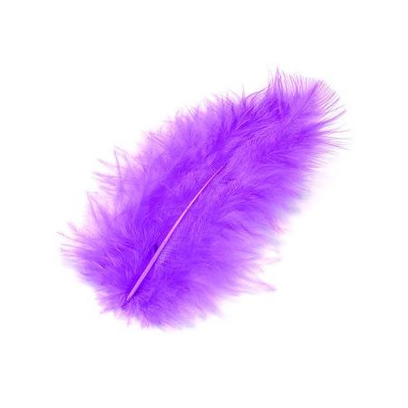 Plumes de marabout violet 9cm 15 pces