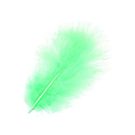 Plumes de marabout turquoise 9cm 15 pces