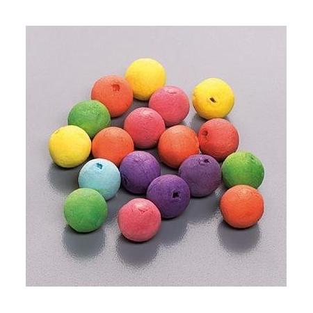 Boule en ouate 15mm 6 couleurs 40 pces