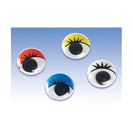 Yeux mobiles assortis 7mm 40 pces