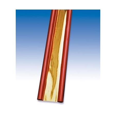 Papier métallisé rouge doré 50x78