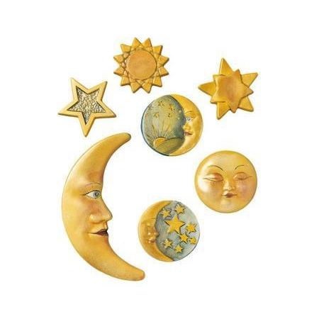 Moule lune + étoiles 5.5 x 13.5 cm
