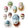 Moule masques miniatures 4 - 8 cm