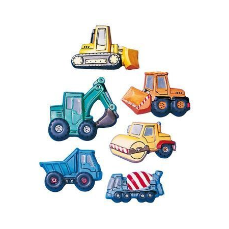 Moule excavateurs & camions 7.5 x 5 cm