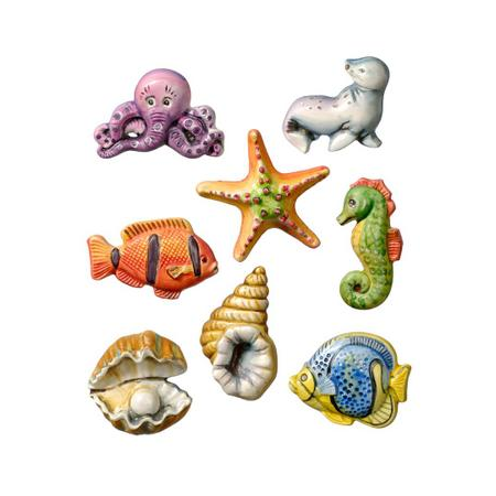 Moule monde marin 5 - 6.5 cm