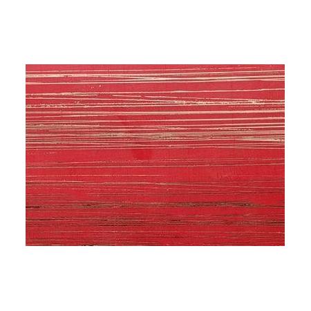 Cire décorative rouge bandes dorées 175 x 80 0.5 mm