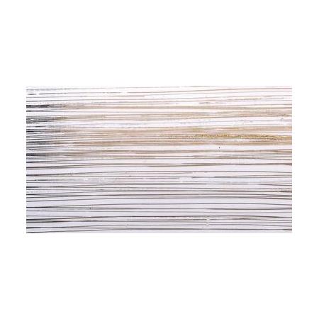 Cire décorative blanc bandes dorées 175 x 80 0.5 mm