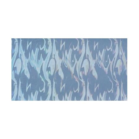 Cire décorative hologramme aqua bleu clair 175 x 80 0.5 mm